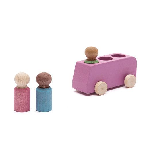 Lubu Wooden Bus - Pink