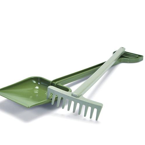Green Bean Shovel and Rake Set