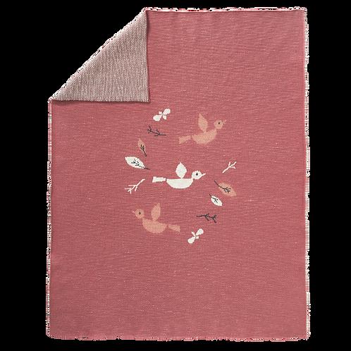 Knitted Blanket - Birds