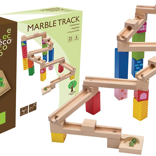 Wooden Marble Track