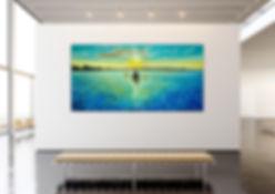 Kayak Sunrise in Gallery