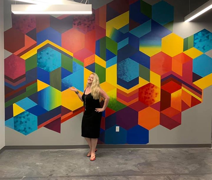 Lauren Jane Geometric Art Mural