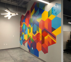 Geometric Wall mural from side