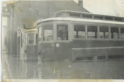 The Street Cars during a flood