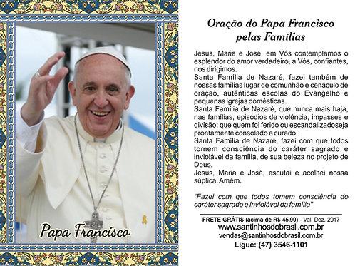Oração ao Papa Francisco - 7x10 cm