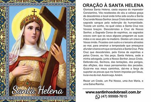 Oração Santa Helena - 7x10 cm
