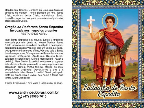 Oração Ladainha de Santo Expedito - 10x14 cm