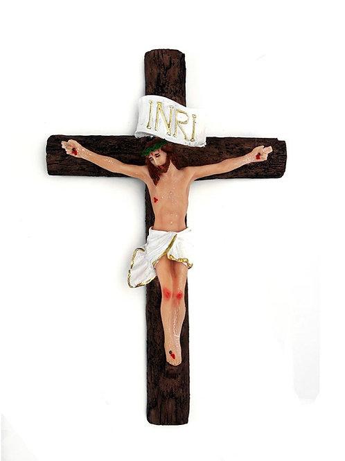 Crucifixo de Parede (resina) 21 cm