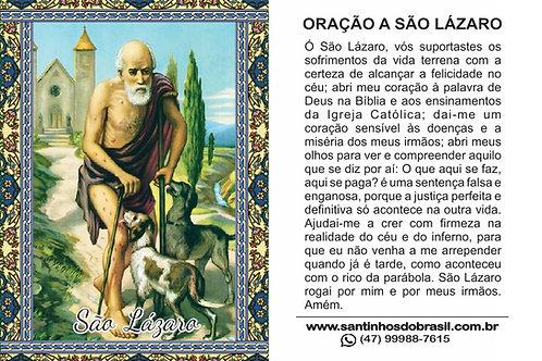 Oracao a Sao Lazaro - Santinho