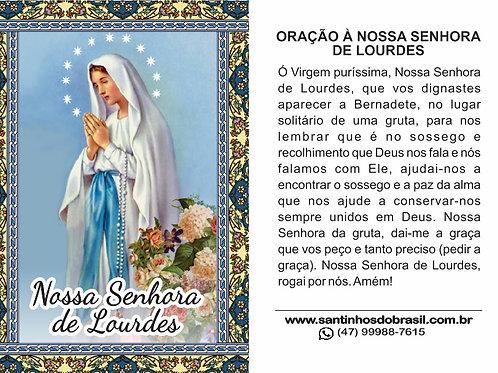 Oração Nossa Senhora de Lourdes - 7x10 cm