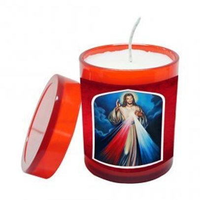 Vela Perfumada Jesus Misericordioso 7 cm