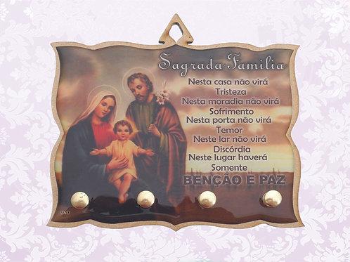 Porta Chaves Brilho Sagrada Família (04 pinos)