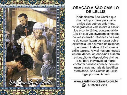 Oração São Camilo de Lellis - 7x10 cm