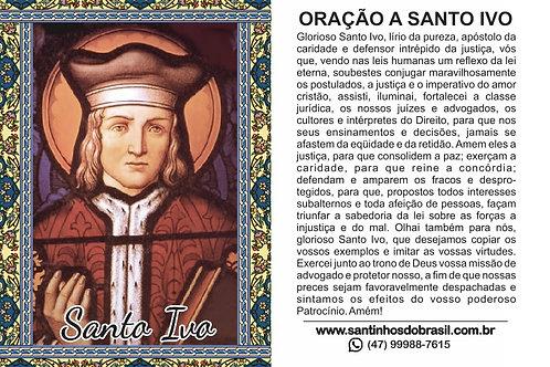 Oração Santo Ivo - 7x10 cm