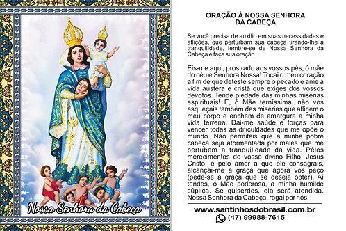 Santinho Nossa Senhora da Cabeca
