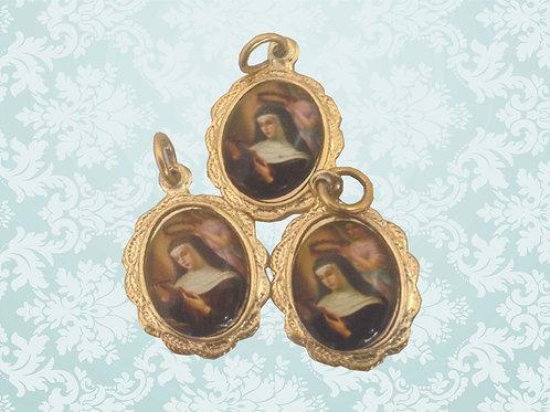 Medalhas de Santa Rita de Cássia 1x2 cm