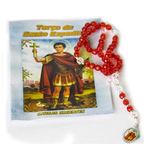 Terço Santo Expedito + 01 Cartão com Oração