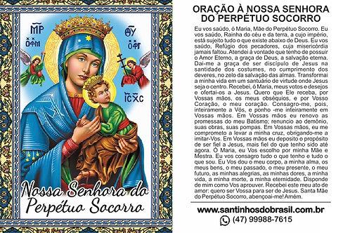 Santinhos Nossa Senhora do Perpétuo Socorro - 7x10 cm