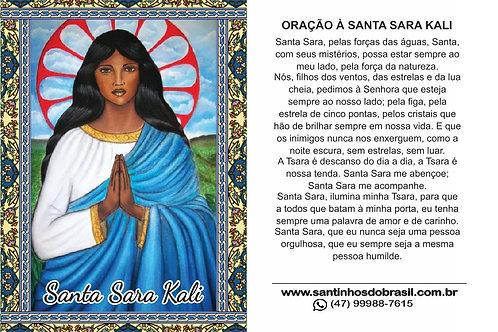Oracao Santa Sara Kali - Santinho
