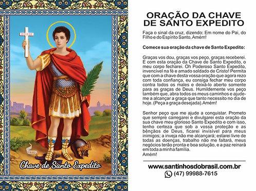 Oração Chave Santo Expedito - 7x10 cm