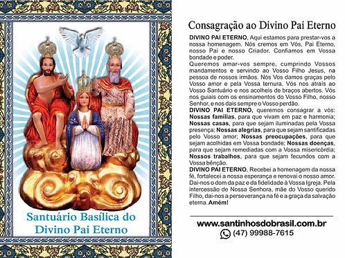 Oração Divino Pai Eterno - 7x10 cm