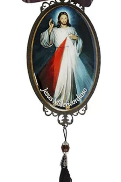 Adorno de Porta Jesus Misericordioso (30 cm)
