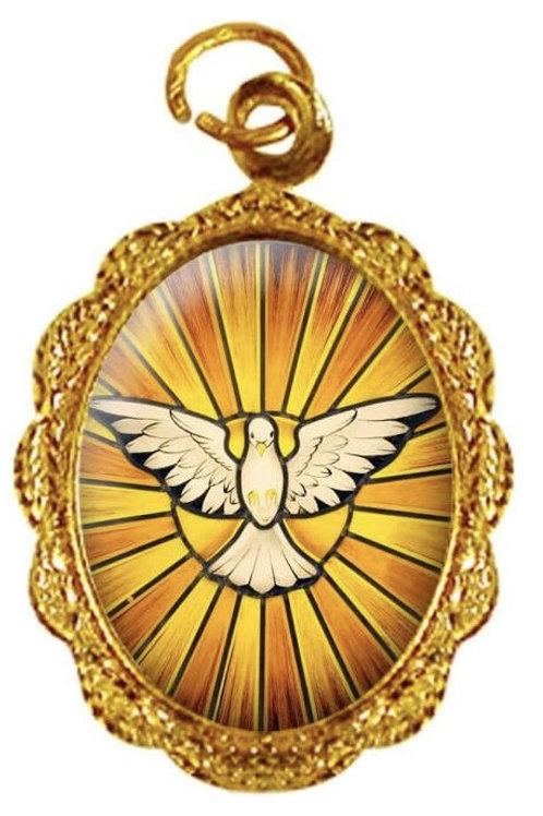 Medalhas Divino Espírito Santo - 1x2 cm
