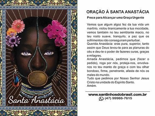 Oração Santa Anastácia - 7x10 cm