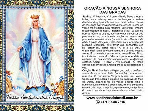 Santinhos Nossa Senhora das Graças - 7x10 cm