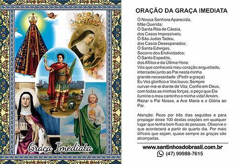 Graça Imediata Santinhos - 7x10 cm
