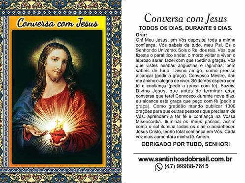 Santinhos da Conversa com Jesus - 7x10 cm
