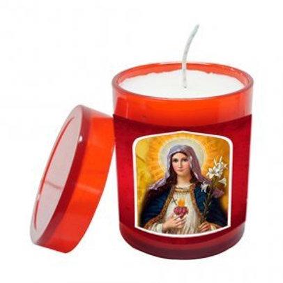 Vela Perfumada Sagrado Coração de Maria 7 cm