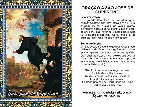 Oração São José de Cupertino - 7x10 cm