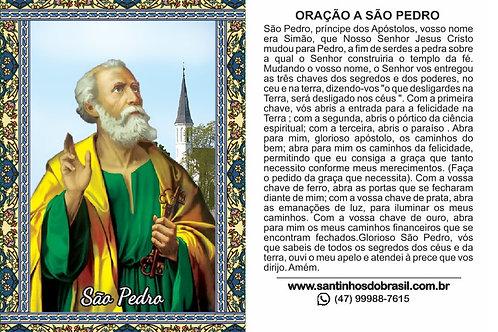 Oração a São Pedro - 7x10 cm