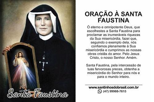 Oração a Santa Faustina - 7x10 cm