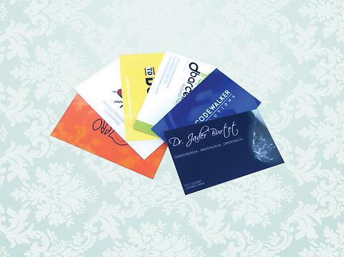 Cartão de Visita Personalizado - 5x9 cm