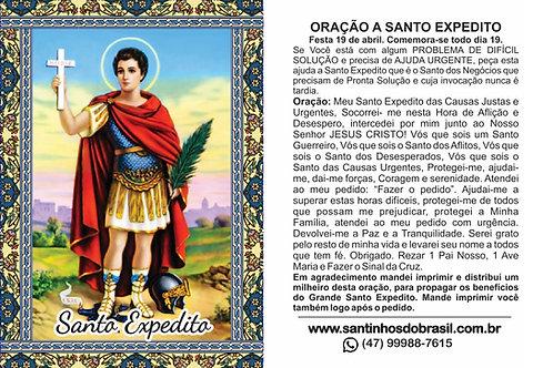 Oração Santinhos - Santo Expedito 7x10 cm