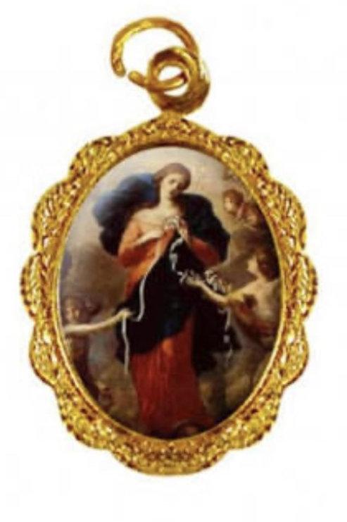 Medalhas N. Sra. Desatadora de Nós - 1x2 cm
