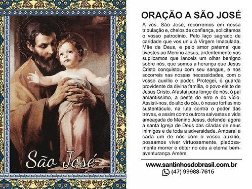 Oração São José - 7x10 cm