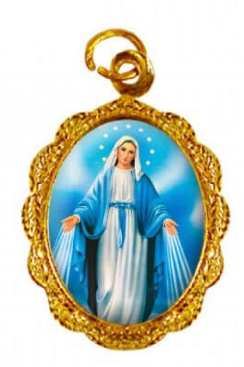 Medalhas Nossa Senhora das Graças 1x2 cm