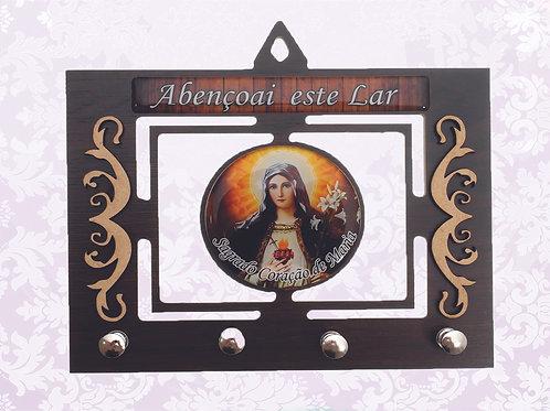 Porta Chaves Sagrado Coração de Maria (04 pinos)