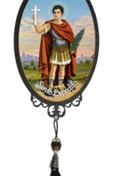 Adorno de Porta de Santo Expedito (30 cm)