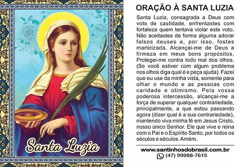 Oração Santa Luzia - 7x10 cm