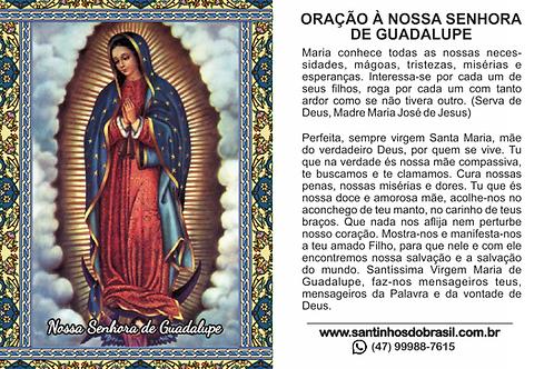 Santinhos Nossa Senhora de Guadalupe - 7x10 cm