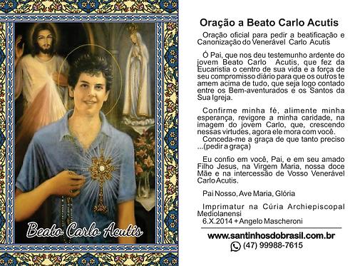 Santinhos Beato Carlo Acutis - 7x10 cm
