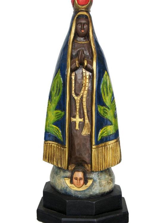 Imagem NS. Aparecida entalhada em Madeira (grande 65 cm)