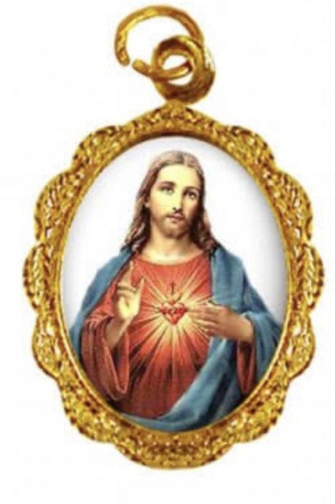Medalhas Sagrado Coração de Jesus - 1x2 cm