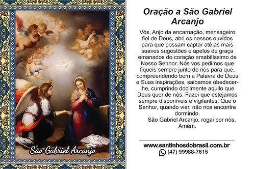 Oração a São Gabriel Arcanjo - 7x10