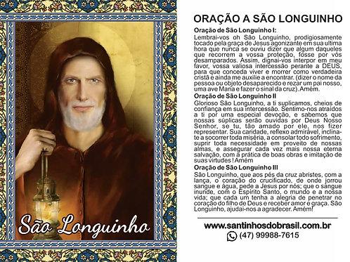 Oração a São Longuinho - 7x10 cm
