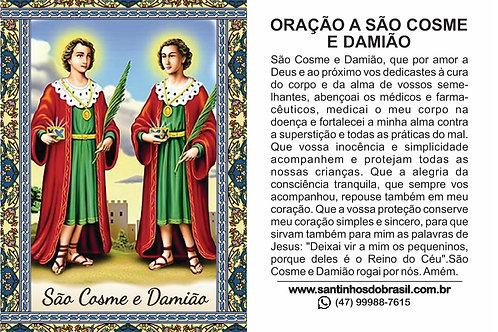 Santinhos São Cosme e Damião - 7x10 cm